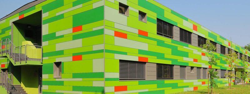 Trespa exterior - Средняя школа. Италия (Trespa Meteon)