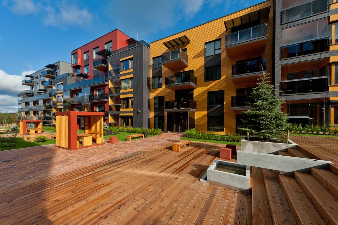 Многоквартирный Малоэтажный комплекс Fundermax г.Вильнюс