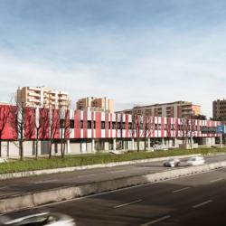 Swisspearl exterior - Торговый центр Noverasco