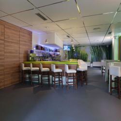 FunderMax interior - Бар Bambú. Испания (Star Favorit P2 и Star Favorit Superfront 0.5 и Max standard HGS)