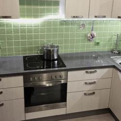 Бетон для интерьера - Бетонная столешница на угловую кухню