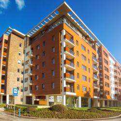 FunderMax exterior - Блок A — жилое здание в Сербии. (Max Compact Exterior)