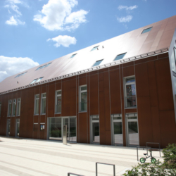 FunderMax exterior - Детский сад и Дом церковной общины. Германия (Max Compact Authentic)