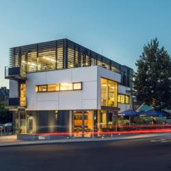 FunderMax exterior - Энергоэффективный офис Ternes Architekten BDA. Германия (Max Compact Exterior)