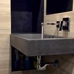 Бетон для интерьера - Консольная раковина из бетона в санузел