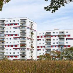 FunderMax exterior - Многоквартирный дом Max & Moritz в Мюнхене. Германия (m.look)