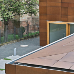 FunderMax exterior - Общественный центр. Германия (Max Compact Authentic)