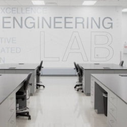 Trespa interior — R&D Lab. США (Trespa TopLab Plus)