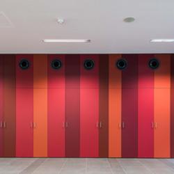 FunderMax interior - Школа профессионального образования Embelgasse. (Star Favorit P2 и Superfront 0.5 и Max Compact Interior F)