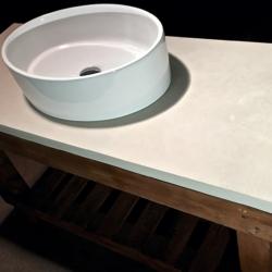 Бетон для интерьера - Столешница из бетона в ванную