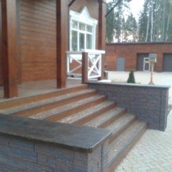 Бетон для экстерьера - Уличный декор и ступени из бетона. Дом в Ярославле