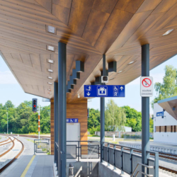 FunderMax exterior - Железнодорожная станция Česká Lípa. Чехия (Max Compact Exterior, m.look)