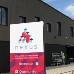 Trespa exterior - Школа Nexus. Тонбридж. Великобритания (Trespa Pura NFC)